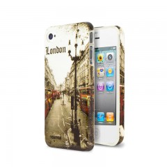 Secron Apple iPhone 4 - 4S London Baskılı Rubber Kılıf