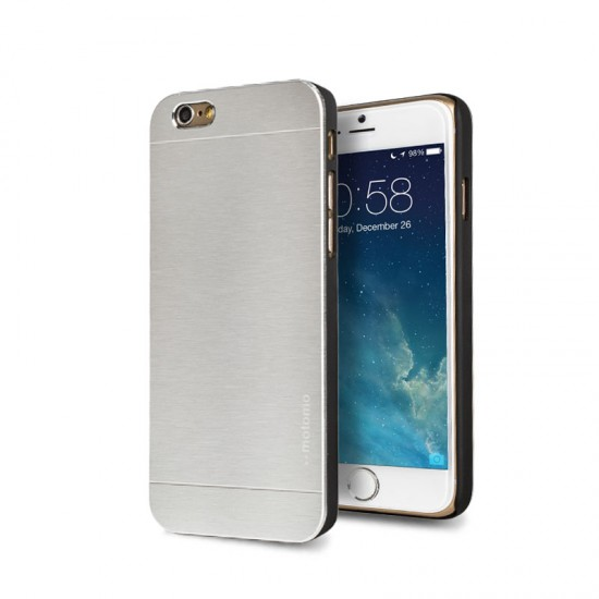 Motomo Apple iPhone 6 - 6S Metal Rubber Kılıf