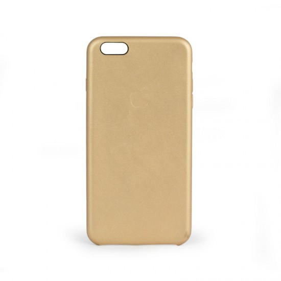 Apple iPhone 6 Plus - 6S Plus Gold Deri Kılıf