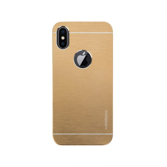 Motomo Apple iPhone X Metal Rubber Kılıf