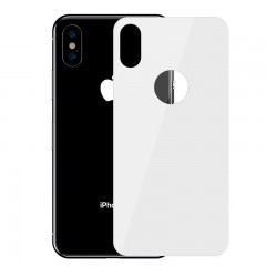 Baseus Apple iPhone XS Max Full Coverage Curved Tempered Glass Rear Protector Arka Gövde Koruyucu - Beyaz