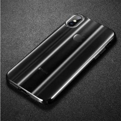 Baseus Apple iPhone XS Max Aurora Case Kılıf - Transparan Siyah