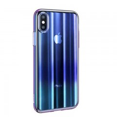 Baseus Apple iPhone XS Max Aurora Case Kılıf - Transparan Mavi