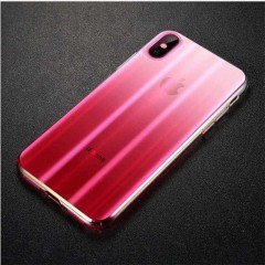 Baseus Apple iPhone XS Max Aurora Case Kılıf - Transparan Pembe