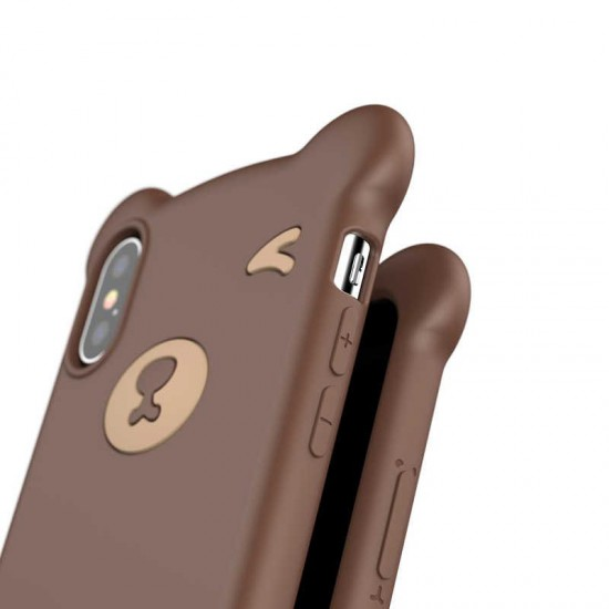 Baseus Apple iPhone XS Max Bear Silikon Kılıf