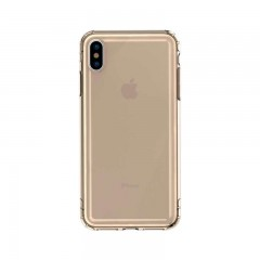 Baseus Apple iPhone XS Max Safety Airbags Case Kılıf - Transparan Gold