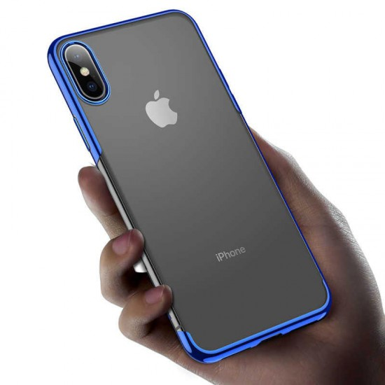 Baseus Apple iPhone XS Max Shining Case Kılıf - Mavi