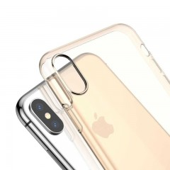 Baseus Apple iPhone XS Max Simplicity Series Kılıf (Dust Free) - Transparan Gold