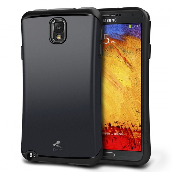 Verus Samsung Galaxy Note 3 Thor Kılıf HARD DROP Metal Navy