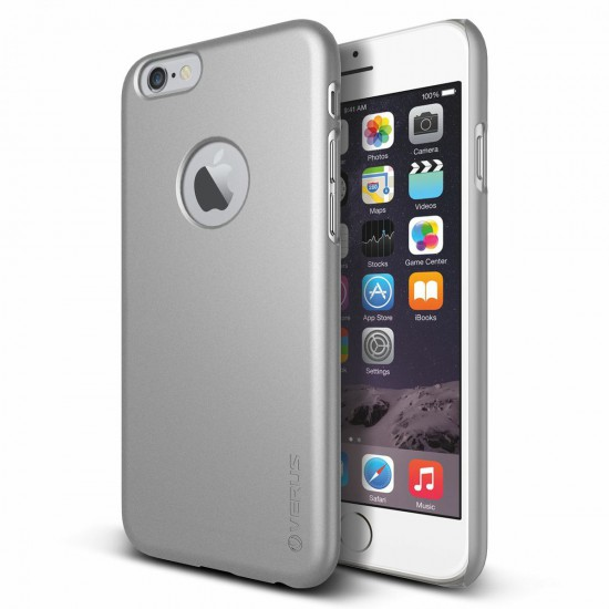 Verus iPhone 6 - 6S 4.7 Case Super Slim Hard Series Kılıf Light Silver