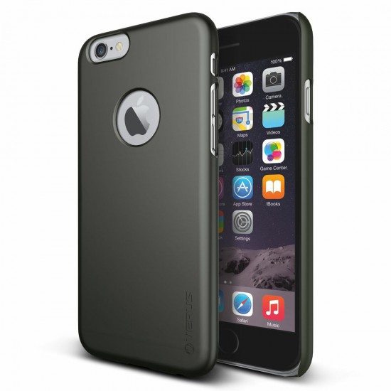 Verus iPhone 6 - 6S 4.7 Case Super Slim Hard Series Kılıf Dark Silver