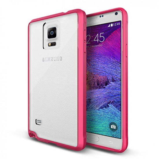 Verus Samsung Galaxy Note 4 Crystal Mixx Kılıf Hot Pink