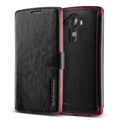 Verus LG G4 Case Dandy Layered Series Kılıf Black Wine