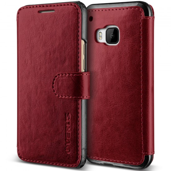 Verus HTC One M9 Case Dandy Layered Kılıf Wine Black