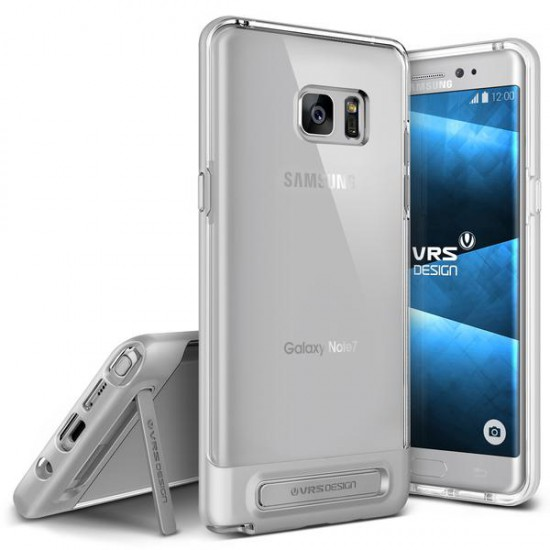 VRSDESIGN Samsung Galaxy Note 7 Crystal Bumper Series Kılıf Light Silver