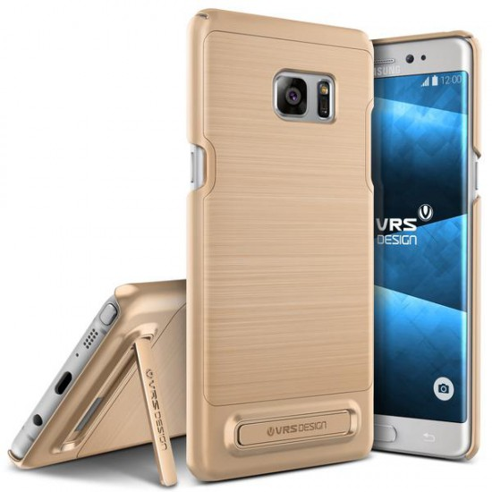 VRSDESIGN Samsung Galaxy Note 7 Simpli Lite Series Kılıf Shine Gold