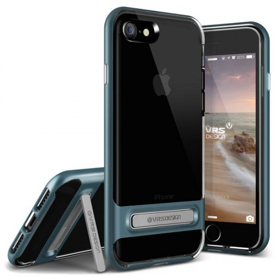 VRSDESIGN iPhone 7 Crystal Bumper Series Kılıf Deep Blue