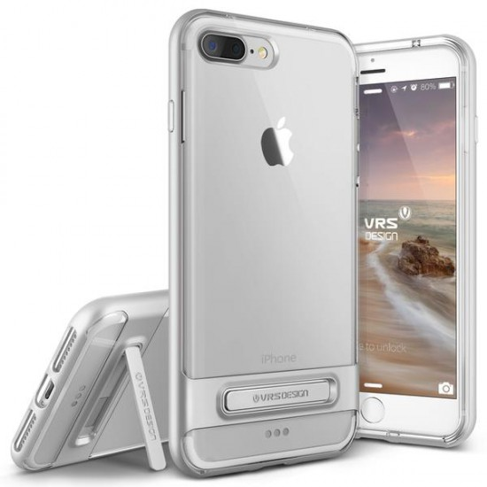 VRS DESIGN iPhone 7 Plus Crystal Bumper Series Kılıf Light Silver