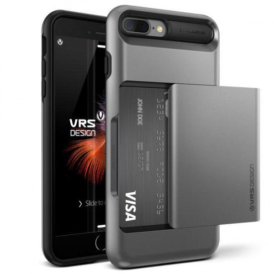 VRS DESIGN iPhone 7 Plus Damda Glide Series Kılıf Steel Silver