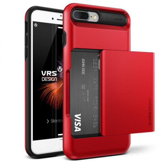 VRS DESIGN iPhone 7 Plus Damda Glide Series Kılıf Crimson Red