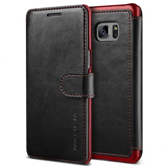 VRSDESIGN Samsung Galaxy Note 7 Layered Dandy Series Deri Kılıf Black Wine