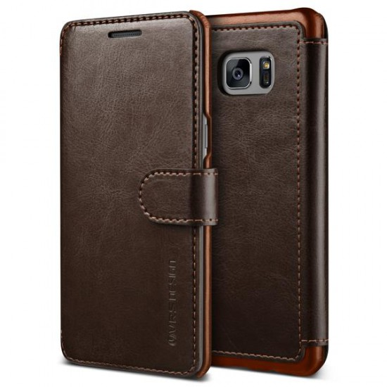 VRSDESIGN Samsung Galaxy Note 7 Layered Dandy Series Deri Kılıf Dark Brown