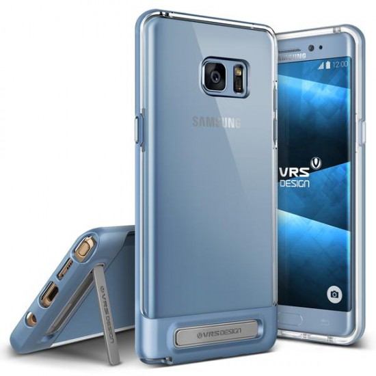 VRSDESIGN Samsung Galaxy Note 7 Crystal Bumper Series Kılıf Blue Coral