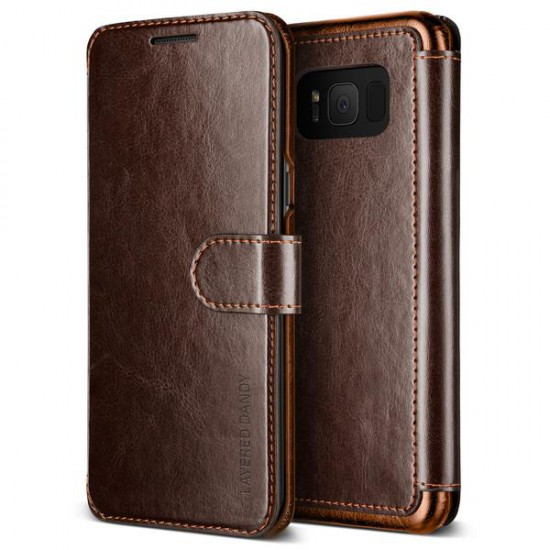 VRS Design Samsung Galaxy S8 Layered Dandy Kılıf Dark Brown