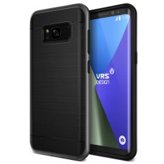 VRS Design Samsung Galaxy S8 Plus High Pro Shield Kılıf Dark Silver
