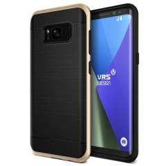 VRS Design Samsung Galaxy S8 Plus High Pro Shield Kılıf Shine Gold