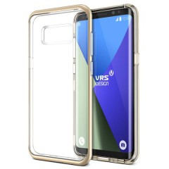 Verus Samsung Galaxy S8 Plus Crystal Bumper Kılıf Shine Gold