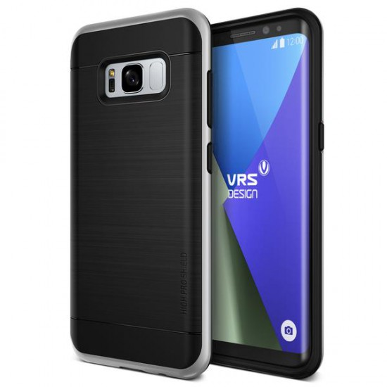 VRS Design Samsung Galaxy S8 Plus High Pro Shield Kılıf Light Silver