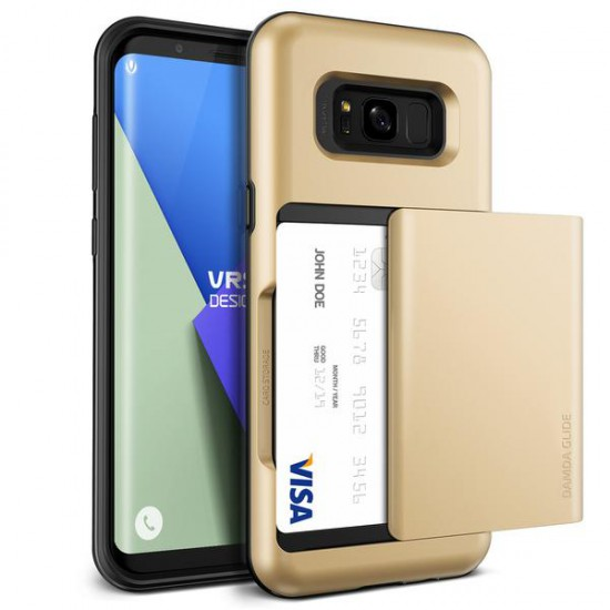 VRS Design Samsung Galaxy S8 Plus Damda Glide Kılıf Shine Gold
