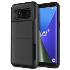 VRS Design Samsung Galaxy S8 Plus Damda Folder Kılıf Dark Silver