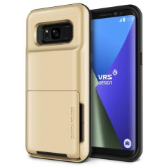 VRS Design Samsung Galaxy S8 Plus Damda Folder Kılıf Shine Gold