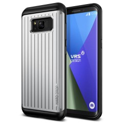 Verus Samsung Galaxy S8 Plus Waved Hard Drop Series Kılıf Light Silver