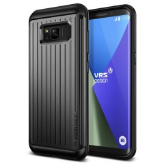 Verus Samsung Galaxy S8 Plus Waved Hard Drop Series Kılıf Waved Dark Silver