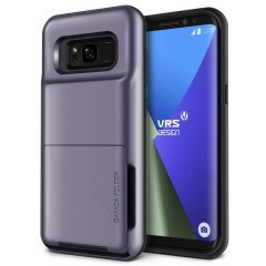 VRS Design Samsung Galaxy S8 Plus Damda Folder Kılıf Orchid Gray