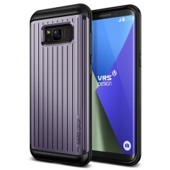 Verus Samsung Galaxy S8 Plus Waved Hard Drop Series Kılıf Waved Orchid Gray