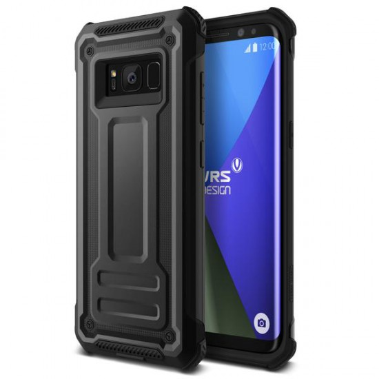 VRS Samsung Galaxy S8 Plus Terra Guard Kılıf Dark Silver