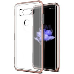 VRS Design LG V30 Crystal Bumper Kılıf Rose Gold