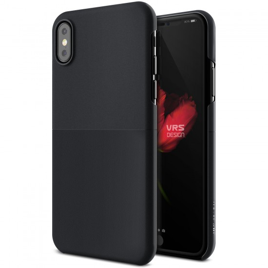VRS Design iPhone X Skin Fit Kılıf Black