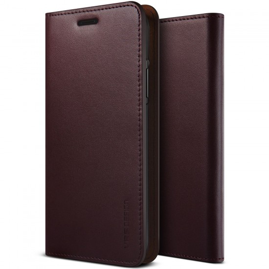 VRS Design iPhone X Genuine Leather Kılıf Wine