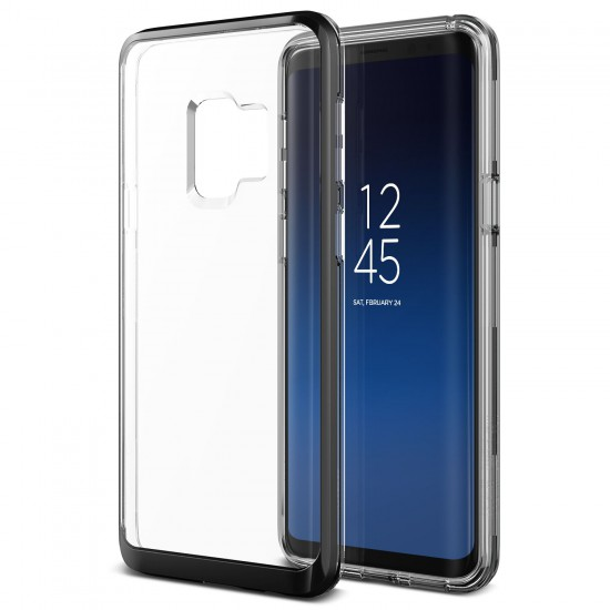 VRS Design Samsung Galaxy S9 Crystal Bumper Kılıf Metallic Black