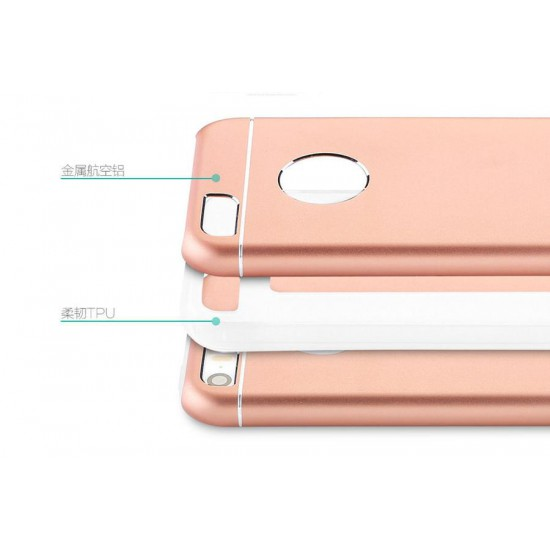 Totu Design iPhone SE / 5 / 5s Lüks Metal Kılıf Rose Gold