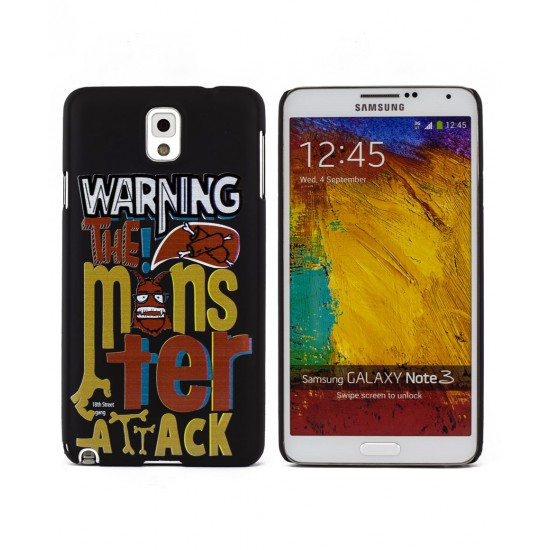 Warning Monster Attack Samsung Galaxy Note 3 Kılıf