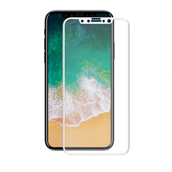 K.FULAI Apple iPhone X 5D GLASS Çerçeveli Ekran Koruyucu