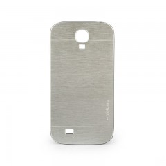 Motomo Samsung Galaxy S4 Metal Rubber Kılıf - Chrome