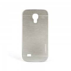Motomo Samsung Galaxy S4 Mini Metal Rubber Kılıf - Chrome