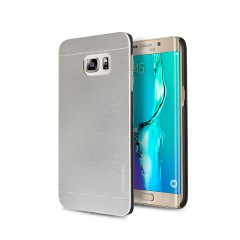 Motomo Samsung Galaxy S6 Edge Plus Metal Rubber Kılıf - Chrome